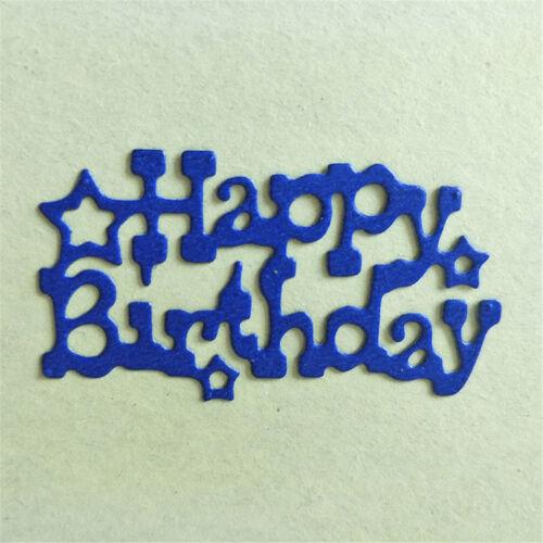 Metal Cutting Dies happy birthday star Stencils Scrapbook Embossing album HC