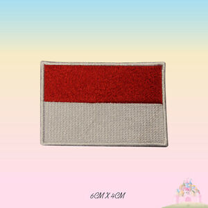 Indonesia-National-Flag-Embroidered-Iron-On-Patch-Sew-On-Badge
