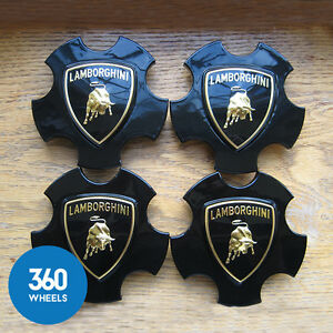 4-NEW-GENUINE-LAMBORGHINI-GALLARDO-CALLISTO-WHEEL-CENTRE-CAPS-BADGES-400601147F