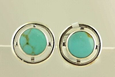 NEW Sterling Silver TURQUOISE EARRINGS GREAT DESIGN- 2.4 GR S6690