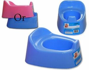 Basic Baby Essential Kids Toilet Trainer Seat Pick Your Color Shiny Plastic