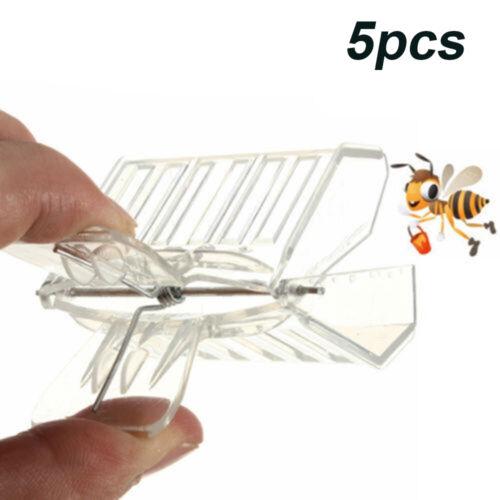 5x Transparent Cage Clip Bee Plastic Beekeepers Beekeeping Queen Catcher Tools