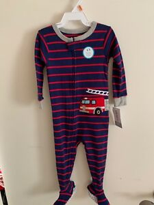 b0b31db113de Carters Baby Boys 1-Piece Snug Fit Cotton Pajamas Fire Truck 12M ...