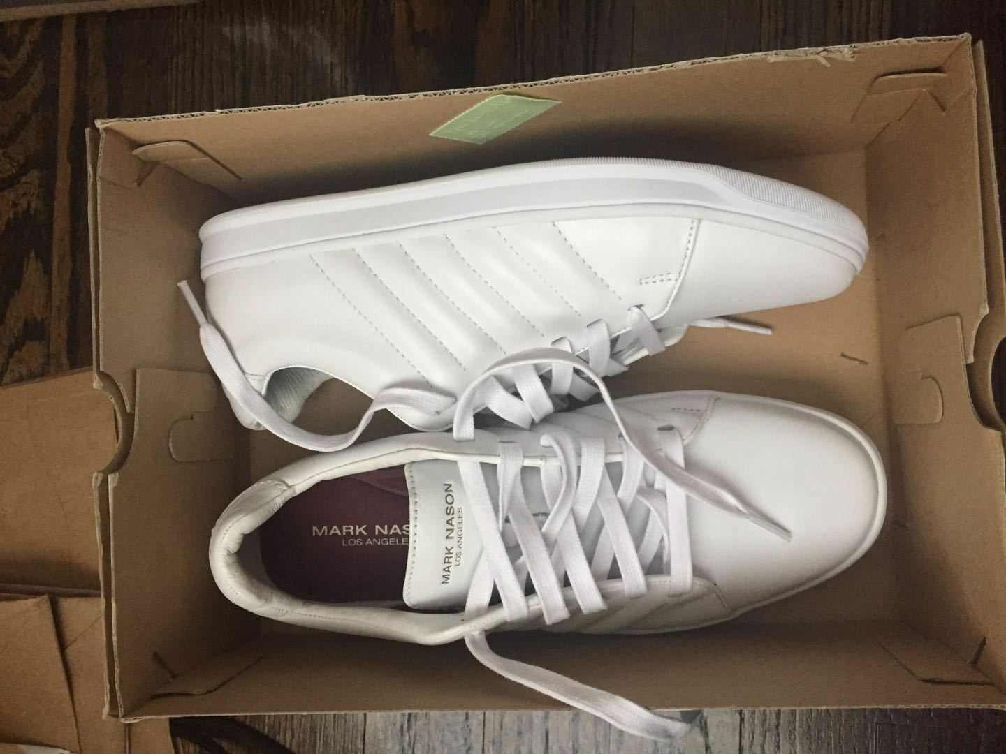 MARK NASON LOS ANGELES Caprock 68551 Men's US7 EUR39.5 White LEATHER Sneakers