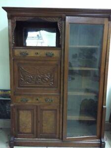 Stupendous Details About Antique Secretary Desk With Bookcase Walnut 19Th Century Download Free Architecture Designs Embacsunscenecom