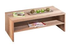 Table basse table salon design moderne rectangulaire décor chêne