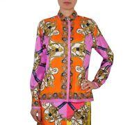D&G DOLCE & GABBANA RUNWAY Bluse Seide Pink Shirt Blouse Silk Rose 01480