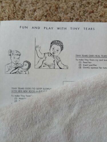 Rock-A-Bye Doll Instruction Sheet Vintage 1960/'s TINY TEARS