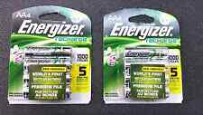 NEW 2Packs of 4 Energizer Universal Rechargeable AA batteries 8 total 2000 mAH