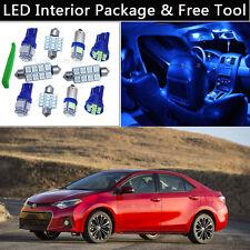 6PCS Blue LED Interior Car Lights Package kit Fit 2003-2013 Toyota Corolla J1