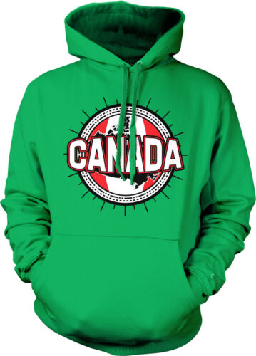 Canadian Sun Flag Crest Canada Pride Nationality Hoodie Pullover