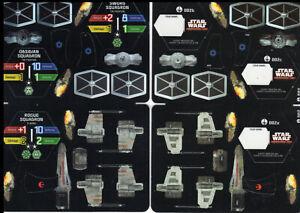 Wizkids-Star-Wars-pocketmodel-TCG-x2-Tie-Fighter-Rogue-Squadron-X-Wing-BL815