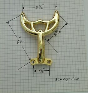 36 Quot 42 Quot Polished Brass Ceiling Fan Blade Arm Replacement For Hunter Amp Hamton Bay Ebay