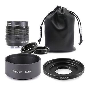 35mm-Fujian-F1-7-CCTV-TV-cine-lens-for-Canon-EF-M-EOS-M-Mirrorless-Camera-amp-HOO