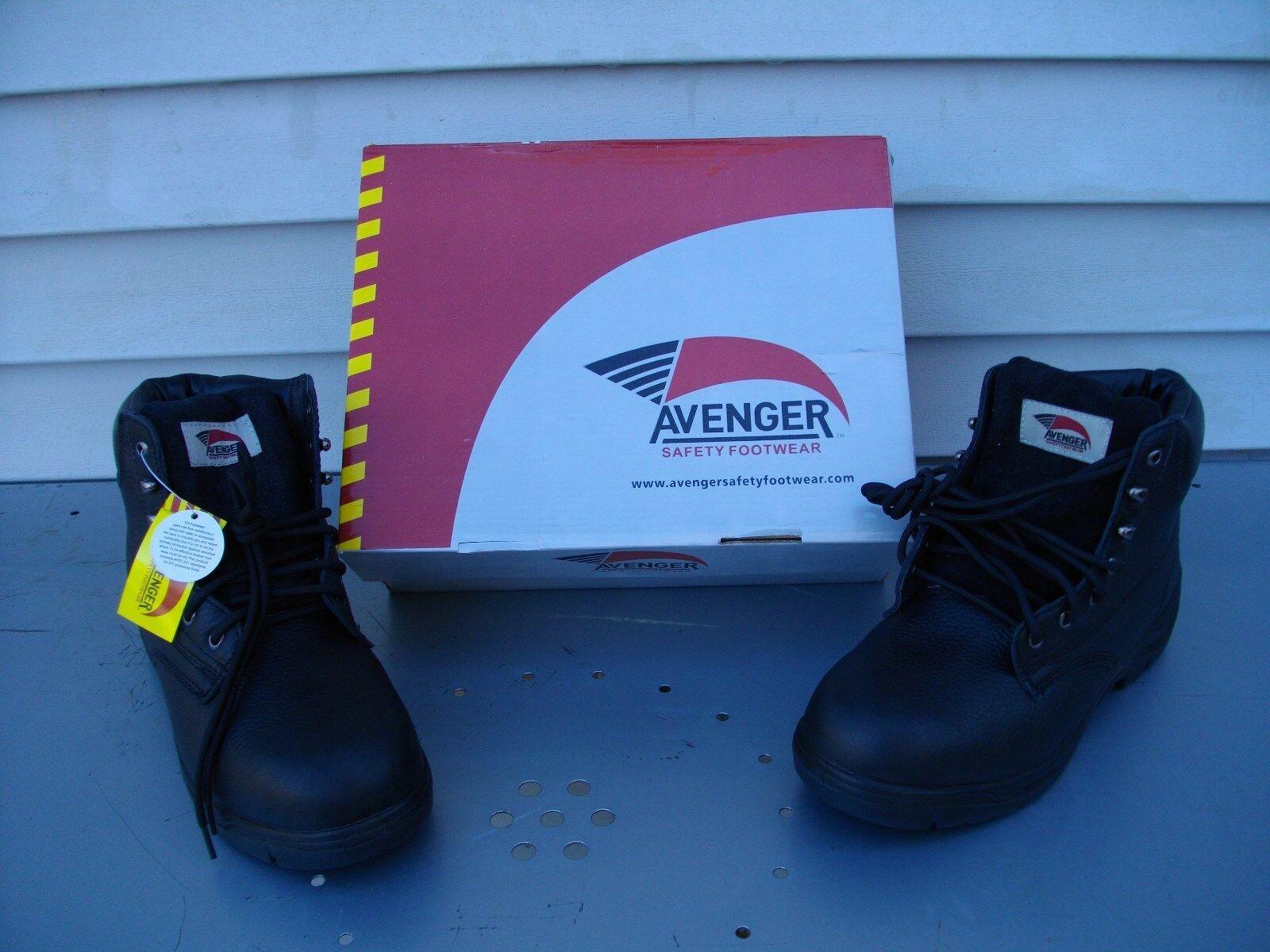 AVENGER para Hombre botas De Trabajo Puntera De Seguridad ELECTRICAL peligro A7212W 9 W