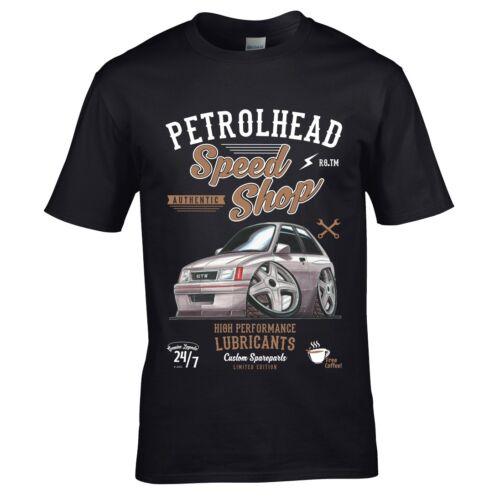 Koolart Petrolhead Speed Shop Motif /& Rétro NOVA GTE Voiture Image T-Shirt Homme Haut