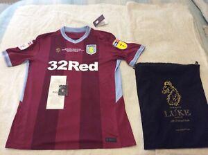 Aston Villa Luke Play Of Shirt 2019 Bnwt Only 400 Produced Villa Shop Receipt Ebay