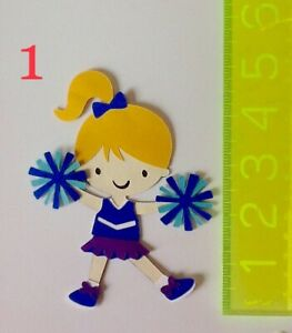 Cheerleader paper piecing scrapbook embellishment