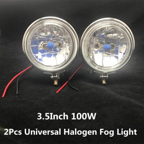 2x 3.5Inch 100W Halogen Car Fog Light Reverse Lamp Driving Lights 12V Universal