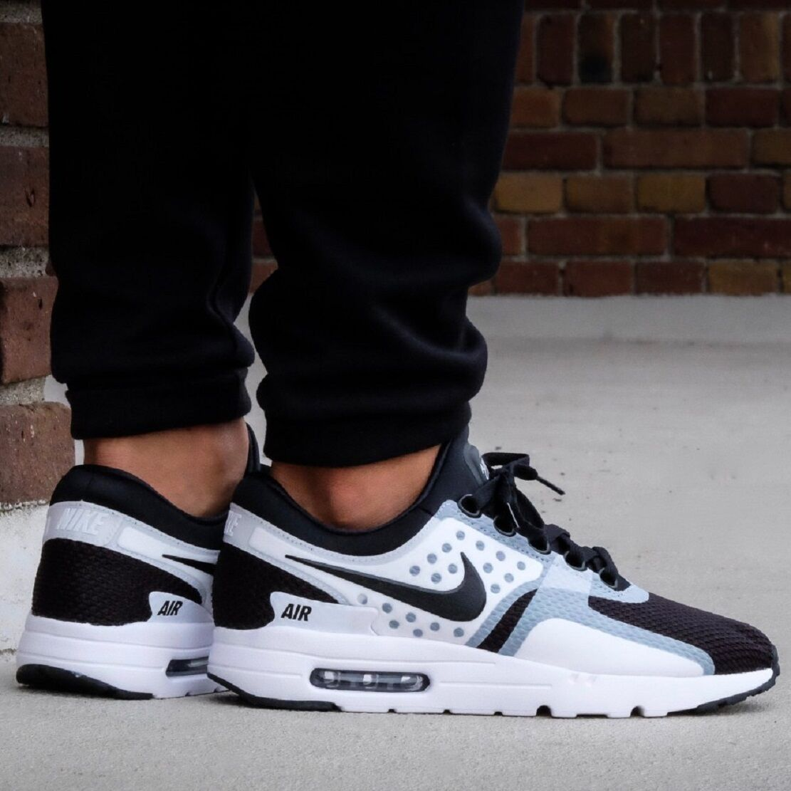 NIKE AIR MAX ZERO ESSENTIAL Homme COMFY Chaussures THE ONE BEFORE THE 1 Blanc / Noir