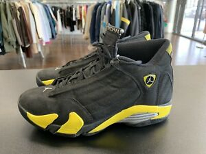 6850436916a268 Nike Air Jordan Retro 14 XIV Thunder 487471 070 SIZE 8.5 BLACK ...