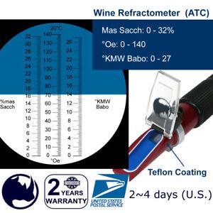 0-140-Oe-0-27-KMW-Babo-0-32-Brix-Mas-Sacch-Wine-Handheld-Refractometer-ATC