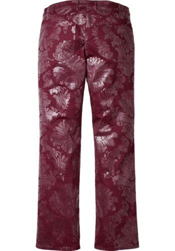 Kp 59,99 € SALE/%/% corto-Tg BORDEAUX Sheego Stretsch-PRINT-Pantaloni NUOVO!!