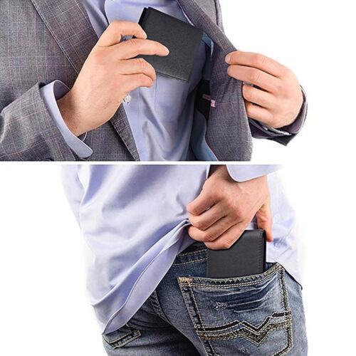 Genuine Leather Men Wallet RFID Blocking Fashion Slim Bifold Credit Card Holder