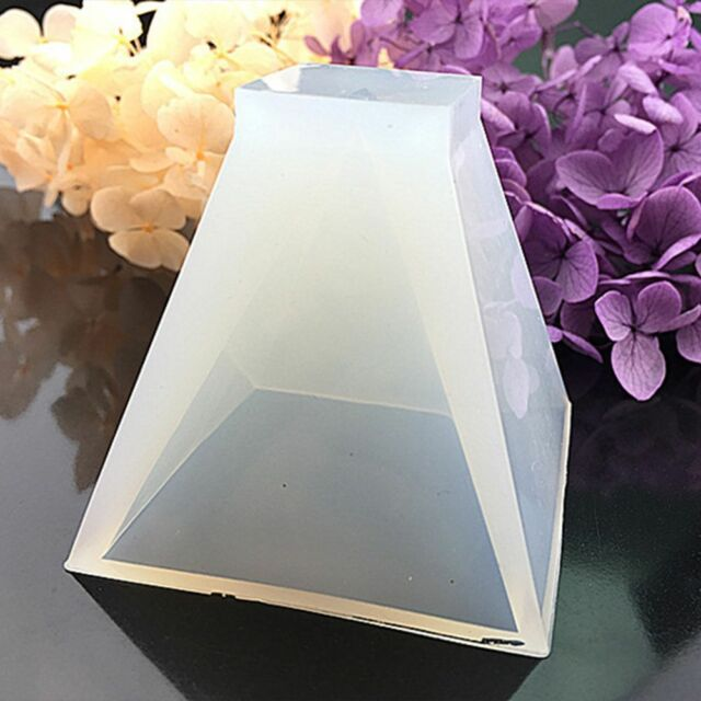 1X Silicone Mold Pyramid Model Resin Handmade Making Mould DIY Craft Mould Decor
