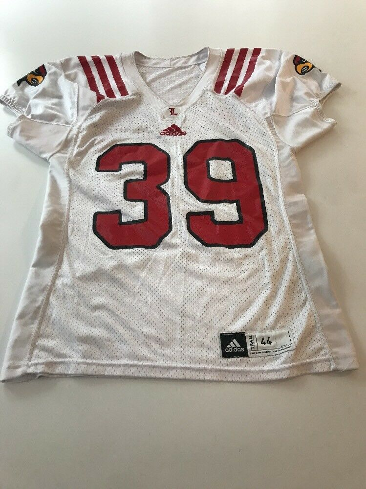 half off 25464 8204c Game Worn Used Louisville Cardinals UL Football Jersey Adidas Adidas Adidas  Size 44 4ddc8a