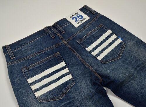 ADIDAS Originals 25 STRIPES JEANS Nigo design Pant Pantaloni Uomo Denim Blu Blue