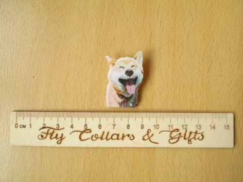 Shiba Inu Dog Brooch Badge Pin Acrylic Shaped Puppy Plastic Shibainu