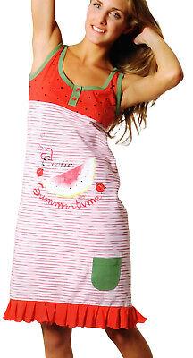 Obbiettivo Camicia Da Notte Donna Cotone Vestito Casa Spalla Larga 211 Exotic Rosso I Consumatori Prima