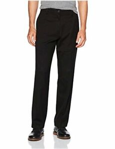 Dockers-Men-039-s-Relaxed-Fit-Easy-Khaki-Pants-D4-Black-Stretch-Size-44W-x-30L