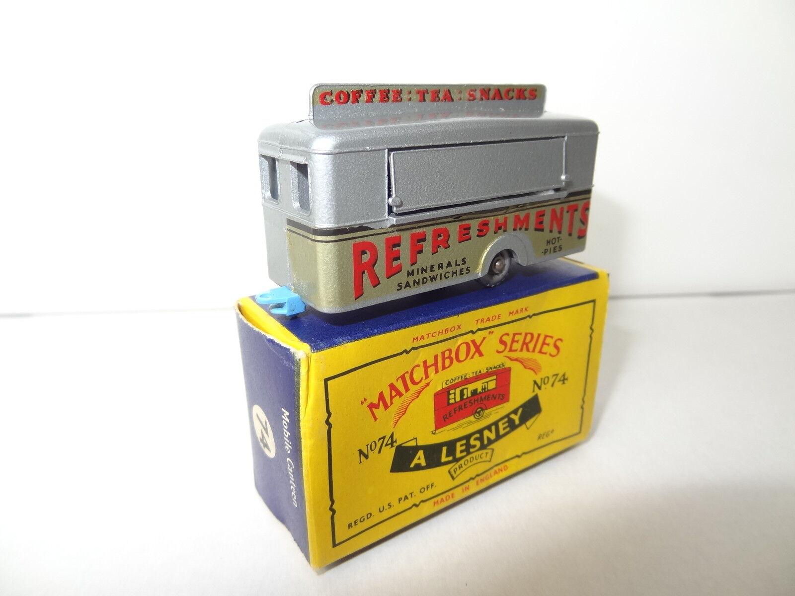 ¡no ser extrañado! Matchbox Moko Lesney móvil refresco Bar Bar Bar - 74 Cochero RARO  tienda de venta