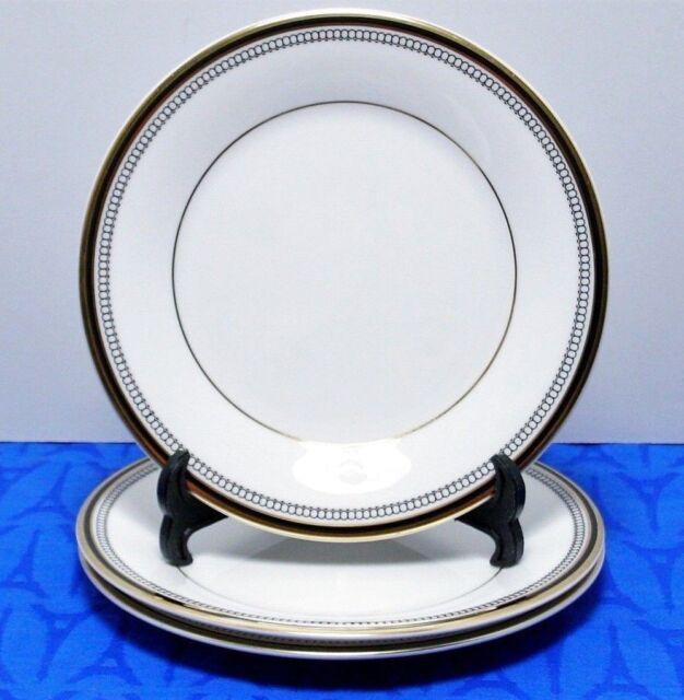 "LOT of 3 Royal Doulton PAVANNE H5095 Fine Bone China 6 5/8"" Bread Plates MINT!"