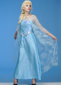 Image is loading Womens-Disney-Frozen-Elsa-Costume  sc 1 st  eBay & Womens Disney Frozen Elsa Costume | eBay