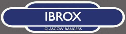 IBROX STADIUM RAILWAY TOTEM FOOTBALL SIGN GLASGOW RANGERS FRIDGE MAGNET