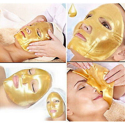 5X Crystal Gold Collagen Facial Face Mask Anti-Aging Moisturizing Skin Care Q