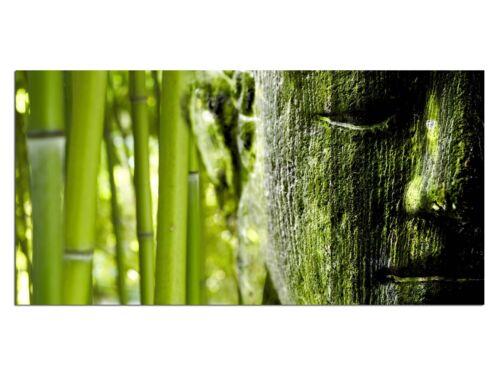 HD imagen de vidrio eg4100500641 bambú Buddah verde 100 x 50 cm de pared imagen feng shui//still