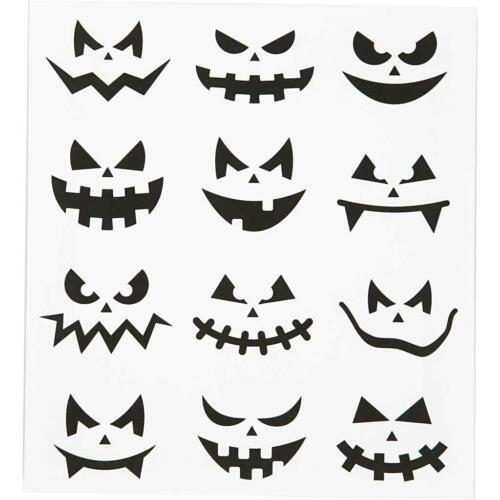 Self Adhesive Motif Face Halloween Stickers Sheet For Card Christmas Decorations