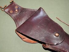 "USMC Marine US WW1 COLT 1911 .45 M-1912 ""LONG DROP"" LEATHER PISTOL HOLSTER RARE"