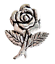 Hand Made in Cornwall Labour Party Red Rose Pewter Pin Badge