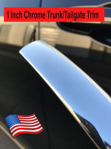 "For Alfa Romeo 2013-2019 1/""Wide Chrome Tailgate Trunk Molding Strip Trim Kit"