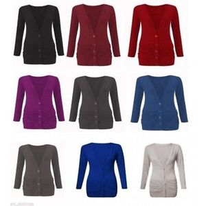 Womens-Ladies-Button-Up-Boyfriend-Cardigan-Top-Long-Sleeve-Cardigan-Jumper-8-26