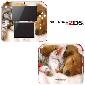 Sleeping-Puppy-Kitty-Decorative-Decal-Cover-Skin-for-Nintendo-2Ds