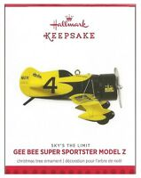 2013 Hallmark Sky's The Limit Gee Bee Super Sportster Model Z Plane Ornament