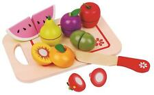 LELIN WOODEN WOOD CHILDRENS KIDS CUT UP FRUIT SHOPPING GROCERY FOOD TOY