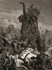 GUSTAVE-DORE-DEATH-OF-ELEAZER-1866-OLD-ART-PAINTING-POSTER-1194OMLV