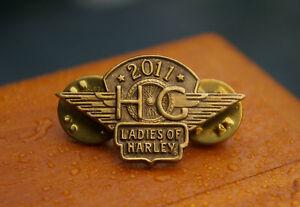1986-Harley-Davidson-2011-HG-Ladies-of-Harley-Motorcycle-Enamel-Pin-Pinback